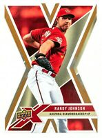 Randy Johnson #1 (2008 Upper Deck X) Gold Die-Cut Card, Arizona Diamondbacks HOF