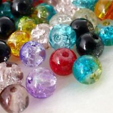 200pcs Perle and Crystal Glass Beads DIY Craft Round 6mm Multicolor