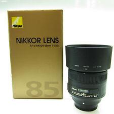 Nikon Nikkor 85mm F/1.8 AF-S Prime Lens -BB-