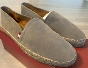 $500 Bally Gray Fillon Suede Espadrilles Size US 12 Made in Spain