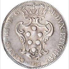 ITALY TUSCANY/LIVORNO COSIMO III 1718 PEZZA DELLA ROSA COIN, CERTIFIED PCGS AU50