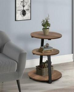 Table Side Round End Coffee Furniture Sofa Living Room Moder Accent Metal Small