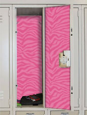 SCHOOL LOCKER PINK ZEBRA SKIN decal peel & stick wallpaper sticker animal print
