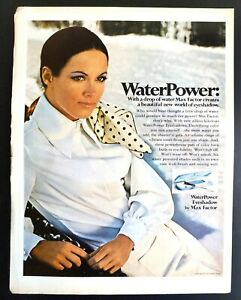 1969 MAX FACTOR Original Vintage Print Ad Water Power Eye Shadow Make-up