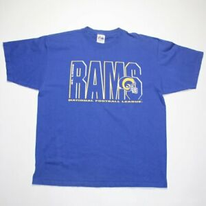 Vintage 90s St. Louis Rams Majestic NFL Made In USA T-Shirt