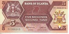 Uganda  5 Shillings  1987   kassenfrisch