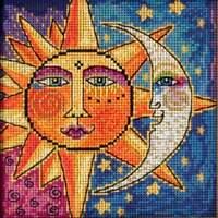 Mill Hill Laurel Burch Beads Cross Stitch Kit ~ SISTER SUN BROTHER MOON #14-1811