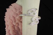 Silver Snake Body Fashion Jewelry Adjustable New Women Metal Arm Cuff Bracelet
