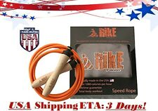 Rike Nonslip Wooden Handles Adjustable Fast Speed Jump Rope W/ Velvet Pouch USA!