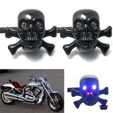 2pcs Skull Turn LED Signal Light for Harley Crusier Chopper Motorcycle Custom