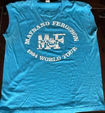 Rare Vintage 1984 Maynard Ferguson World Tour Sleeveless T-shirt Large