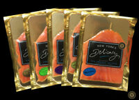 Smoked Salmon Nova, Pre-Sliced, Fully Trimmed, Most Awarded, Vacuum Packed