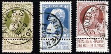 Belgique Roi Léopold II 1905-08 20 C., 25 C & 35 C. valeurs SG 100 To SG 102 VFU