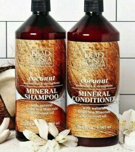 LARGE Dead Sea Collection COCONUT MINERAL SHAMPOO or CONDITIONER   Coconut Oil