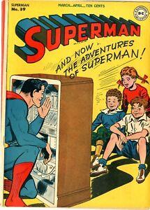 Superman # 39    VGF    1st series    April 1946    See photos