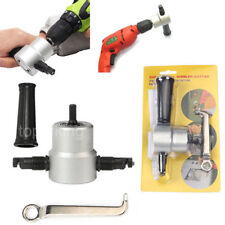 Double Head Sheet Metal Nibbler Saw Cutter Cutting Tool Power Drill Attachment