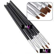 5 Spazzole Per unghie da gel N°2,4,6,8,10 Nails - 5x Pennelli Per gel - 3D