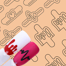 Adhesive Nail Vinyls Cardiograph Heart UR Sugar Nail Art Hollow Stencil Stickers
