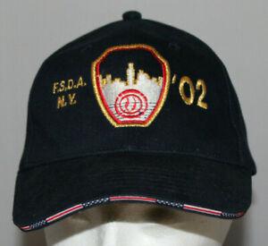 2002 blue Fire Safety Directors Assoc. NY (FSDA NY) baseball hat cap Memory 9/11