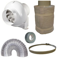 "5"" Centrifuga​l Inline Fan Carbon Filter Duct Kit Hydroponic Grow Room"