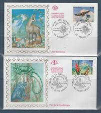 enveloppe  1er jour  les 4 natures  parc national  faune  1997