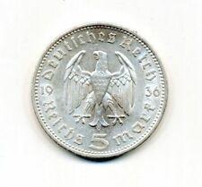 Germany - 1936 Third Reich 5 Reichsmark A KM# 94 Silver Coin
