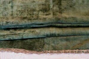 "Rare 18thC Green Genoa Italian Silk Velvet Panel~Gold Metallic Lace Trim~74""X38"""