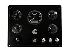 CUMMINS MARINE ENGINE CONTROL PANEL WITH 5 VDO VIEWLINE GAUGES