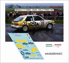 DECALS 1/43 RENAULT 11 TURBO BUDO RALLY YPRES 1987