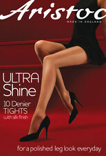 Aristoc Ultra Shine 10 Denier Tights ~ S ~ M ~ L ~ XL ~ ILLUSION & VAGUELY BLACK