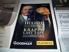2010 GOODMAN THEATRE PLAYBILL & REVIEW - HUGHIE & KRAPP'S LAST TAPE - B DENNEHY