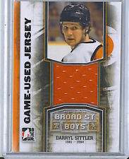 Darryl Sittler 12 In The Game Broad Street Boys Game Used Jersey Card