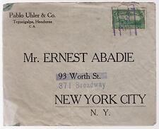 1930s Honduras cover to Ernest Abadie USA Pablo Uhler