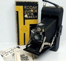Kodak Junior Six-16 Series Ii Folding Camera w/ Bimat Lens with Box & Manual