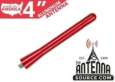 "**SHORT**  4"" ALUMINUM RED ANTENNA MAST - FITS: 2009-2015 Toyota Rav4"