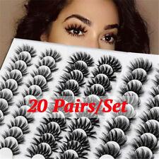 20Pairs Mink False Eyelashes Wispy Cross Fluffy Extension Eye Lashes Fake Lashes
