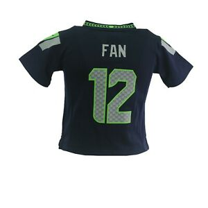 Seattle Seahawks Fan 12 NFL Nike Baby Infant Toddler Size Jersey New With Tags