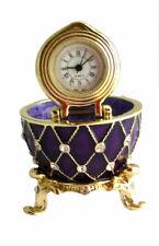 """COPIE OEUF DE FABERGÉ BLUE - """"L'horloge"""""""
