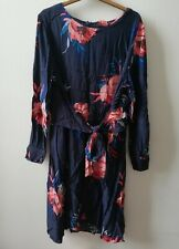 Monsoon Dark Blue And Pink Floral Dress Size 20