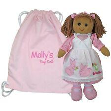 More details for personalised rag doll baby's 1st birthday flower girl christening christmas gift