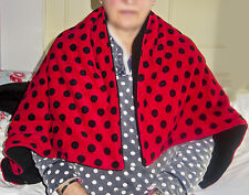 WEIGHTED BLANKET 1.8kg shoulder lap pad AUTISM Aspergers ADHD red black SPOTS