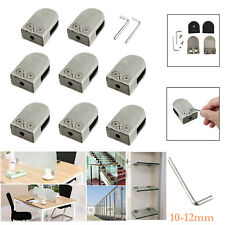 8X Glass Clamp Bracket Clip Clamp Holder 304 Stainless Steel Handrail 10-12mm
