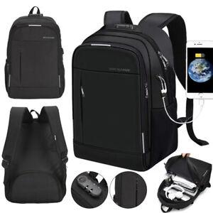 Anti-Theft Backpack Laptop Rucksack School Bag Water Resistant USB Charging Port