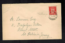 1941 Jersey Channel Islands Occupation Cover England Local Use to St Heliers 2