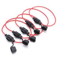5pcs In Line Car Mini Blade Fuse Holder Splash-proof for 12V 30A Fuses  Cable