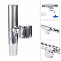 New Stainless Clamp on Adjustable Fishing Rod Holder For Rails 1-1/2 to1-3/4 US
