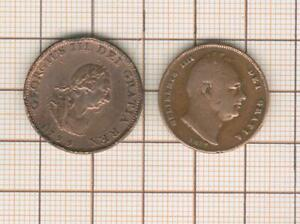 England Georges III Farthing 1799 And Guillaume IV Farthing 1837