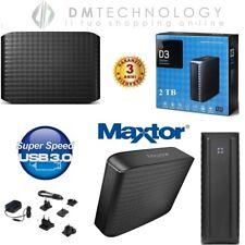 HARD DISK ESTERNO 3,5 2TB MAXTOR USB 3.0 HD 2000GB D3 STATION HX-D201TDB/G