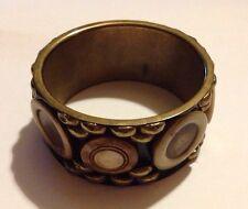 Chunky Mango Gold Studded/Buttons Bangle/Bracelet/Hippy/Boho/Statement
