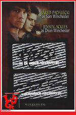 Autographe Double SUPERNATURAL Season 3 carte Jared PadaleckI Jensen Ackles